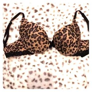 Animal print push up bra
